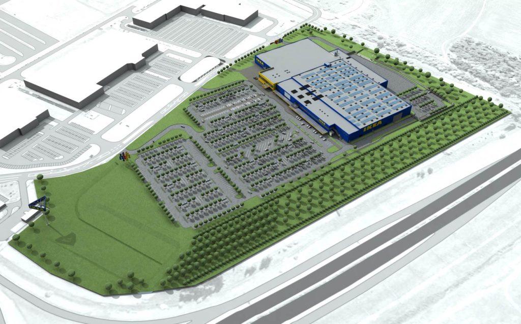 Az Ikea megkezdte fenntartható áruházának az építését
