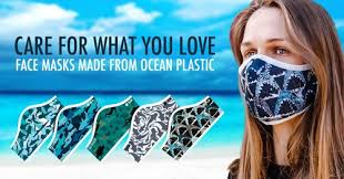 Műanyag hulladékból készült arcmaszk