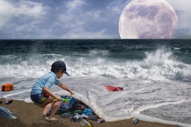 Műanyaghulladék az óceánban