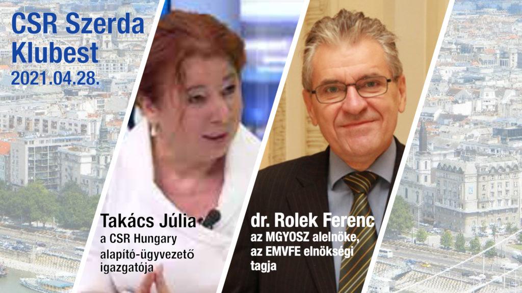 CSR Szerda Klubest vendége: dr. Rlek Ferenc