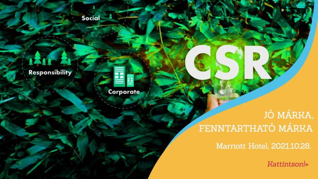 CSR Hungary Summit konferenciák: Jó márka, fenntartható márka'21